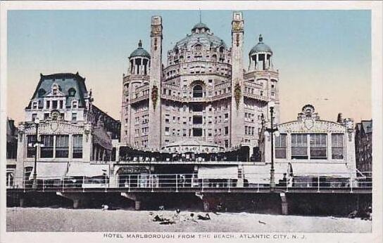 New Jersey Atlantic City Hotel Marlborough From The Beach