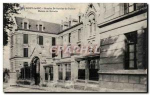 Noisy le Sec Old Postcard Hospice Saint Anthony of Padua Retirement home