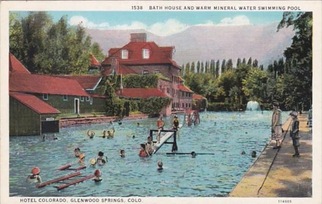 Colorado Glenwood Springs Hotel Bath House Warm Mineral Water