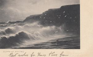 Cliffs at WHITBY, Yorkshire, England, UK, PU-1910; TUCK series 234 Rough Sea
