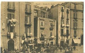 Italy, Napoli, Strada S. Lucia, early 1900s unused Postcard