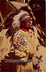 Chief Running Horse, Dixie Café Shamrock, Texas, USA Postcard Post Cards Sha...