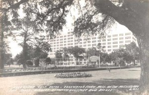 Edgewater Park Mississippi Edgewater Gulf Hotel Real Photo Postcard AA10188