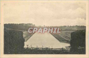 Old Postcard Chateau de Sceaux Grand Canal View Taking the railing of Guinea ...