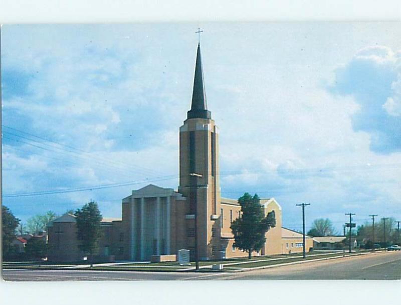 Unused Pre-1980 CHURCH SCENE Mesa - Near Phoenix Arizona AZ G3110