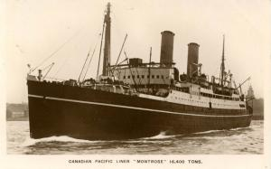 Canadian Pacific Liner Montrose.   *RPPC
