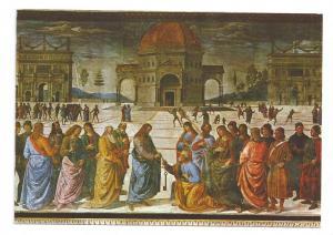 Italy Rome Vatican Sistine Chapel Custody Keys Perugino 4X6