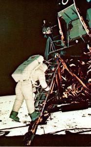 Florida John F Kennedy Space Center Austronaut Aldrin Descends Steps Of Lunar...
