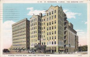 ST PETERSBURG , Florida , PU-1929 ; Florida Theatre & First national Bank