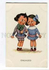256979 ART DECO KIDS Engaged COMIC Vintage A.R.& C.i.B. PC