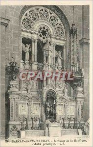 Old Postcard Sainte Anne d'Auray Interior of the Basilica Altar privileged