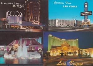 Las Vegas At Night Circus Cavern Hotel 4x Illuminations Postcard s