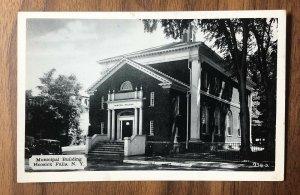 Municipal Building in Hoosick Falls NY Postcard pc New York