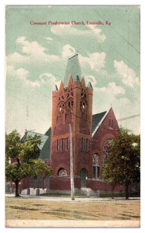 1912 Covenant Presbyterian Church, Louisville, KY Postcard