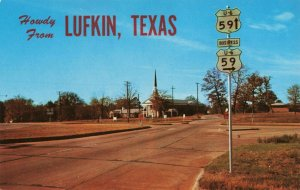 Postcard US Highway 39 Entering Lufkin Texas