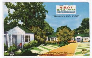 MacKay's Hotel Court Motel Ocala Florida postcard