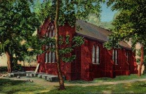 Virginia Jamestown Rear View Of Church Curteich