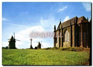 Old Postcard Mont des Alouettes Les Herbiers Vendee near Old mills flanking t...