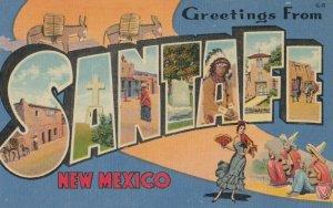 Large Letter , SANTA FE , New Mexico , 1930-40s