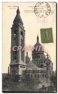 Postcard Old Paris La Basilique du Sacre Coeur and the Campanile