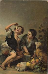 Bartolome Esteban Murillob - The pasty eaters Stengel early art postcard