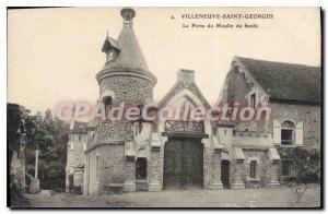 Old Postcard Villeneuve Saint Georges La Porte Du Moulin De Senlis