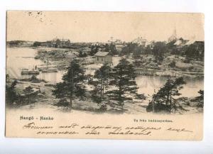 232377 FINLAND Hango Hanko RPPC 1909 year Kronstadt