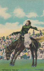 Rodeo , Tad Lucas on Horse HELL CAT , 30-40s