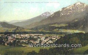 Blick von der Villa Hessing auf Zwiesel und Staufen Bad Reichenhall Germany U...