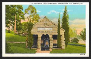 Providence Spring Prison Park Andersonville Georgia Unused c1938