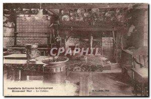 Dives sur Mer Old Postcard William the Conqueror Hostellerie Kitchen