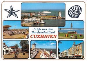 Gruesse aus dem Nordseeheilbad Cuxhaven, Hafen Schiff Konzert Harbour Boats