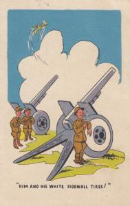 Soldiers and Cannons, 1930-40s; Him and His White Sidewall Tires!