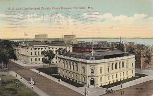 Maine Portland U S And Cumberland County Court House 1916