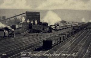 Erie Railroad, Port Jervis, New York, NY, USA Railroad Train Depot Postcard P...
