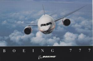 Airplane in Flight, Boeing 777, 60-80's