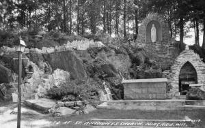 WI - Niagara. Grotto at St. Anthony's Church  *RPPC