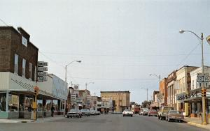 Mauston Wisconsin~Main Street~Hanson's Clothing~Route 12 16 Signs~1960s Cars