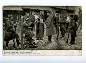 223239 WWI RUSSIA World War French prisoners Lapin postcard
