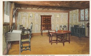 BOSTON, Massachusetts, 1910-1930s; Family Living Room, Paul Revere House