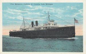 Pere Marquette Carferry 21 Crossing Lake Michigan, 1910-20s