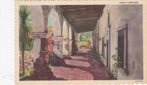 Front Corridor,  Mission San Juan Capistrano,  California,  PU_1950