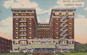 Indiana Evansville Hotel McCurdy Curteich