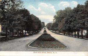 Geneva New York~North Main Street~Homes on Boulevard~1909 Postcard