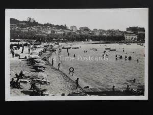 France STE MAXIME SUR MER La Plage (2) Alpes-Côte d'Azur c1945 RP Postcard