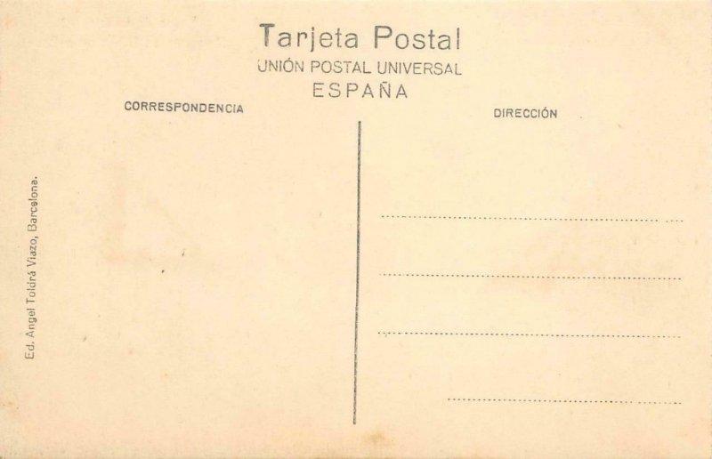 BARCELONA Paseo de Gracia Architect Antoni Gaudí Casa Milà Vintage Postcard
