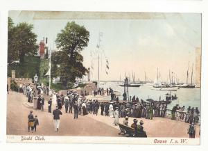 UK England Isle of Wight Yacht Club Cowes I. o. W. Boats c 1910 Vtg Postcard