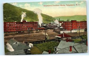 Salamanca Furniture Works Factory Salamanca NY Vintage Postcard D86