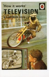 Television TV How It Works Ladybird First Edition Book Postcard