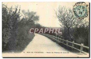 Old Postcard Bois de Vincennes Road Plateau de Gravelle